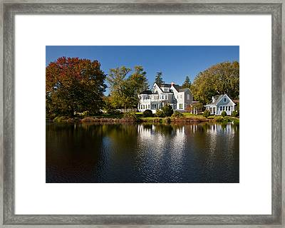 Fall On Argyle Lake In Babylon Village Framed Print by Vicki Jauron