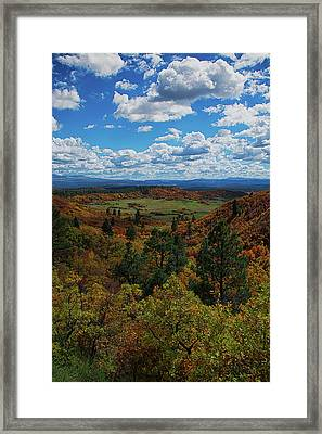Fall On Four Mile Road Framed Print by Jason Coward