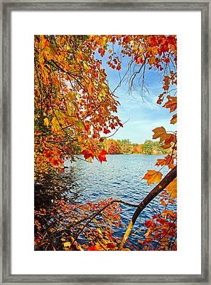 Fall On Lake Opechee Framed Print