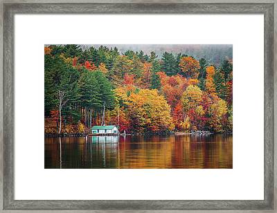 Fall On Lake Winnipesaukee Framed Print