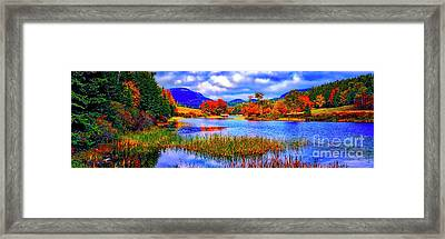 Fall On Long Pond Acadia National Park Maine  Framed Print