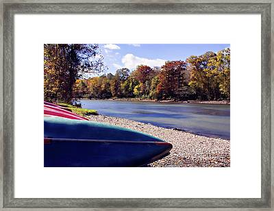 Fall On Mountain Fork Framed Print by Lana Trussell