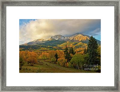 Fall On Mt Sopris  Framed Print