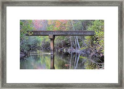 Fall On The East River Framed Print