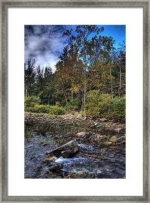 Framed Print featuring the photograph Fall On The Hailstone by Michael Dougherty