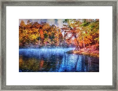 Framed Print featuring the photograph Fall On The Lake by Debra and Dave Vanderlaan