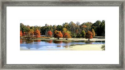 Fall On The Muscatatuck - Southern Indiana Framed Print