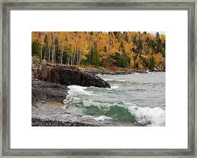 Fall On The Shore Framed Print