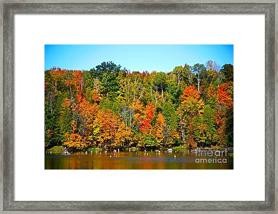 Fall On The Water Framed Print by Robert Pearson