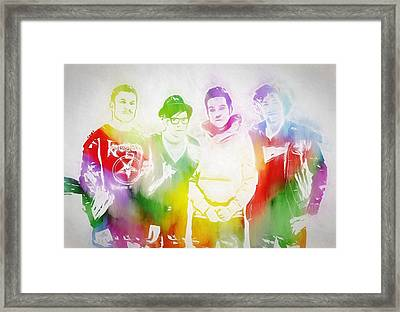 Fall Out Boy Framed Print by Dan Sproul