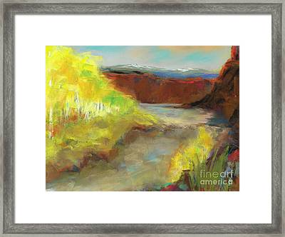 Fall Ponds Framed Print by Frances Marino
