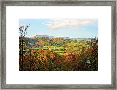 Fall Porch View Framed Print