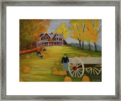 Fall Pumpkin Harvest Framed Print
