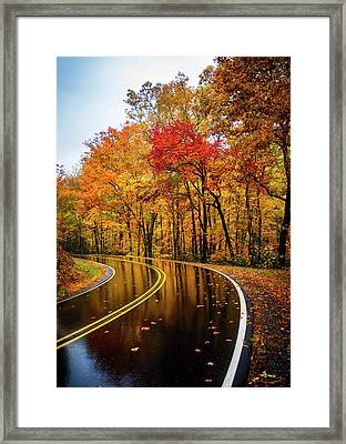 Fall Rain Framed Print