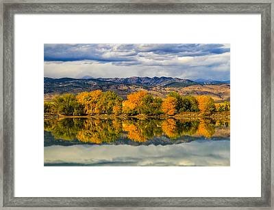 Fall Reflection Framed Print by Juli Ellen