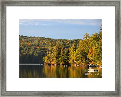 Fall Reflection Framed Print by Michael Mooney