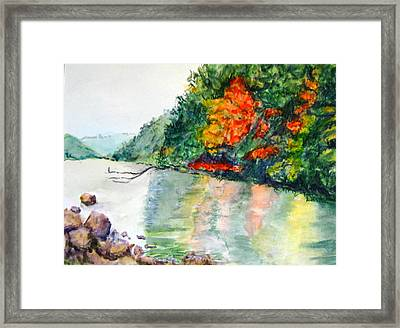 Fall Reflections Framed Print by Arlene Holtz