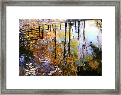 Framed Print featuring the photograph Fall Reflections by Corinne Rhode