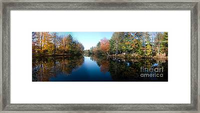 Fall Reflections Framed Print by David Bishop
