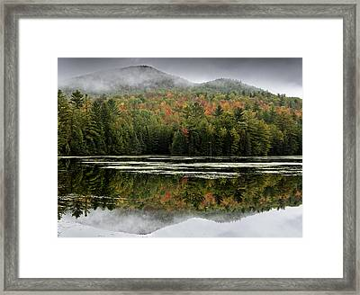 Fall Reflections In The Adirondack Mountains Framed Print by Brendan Reals