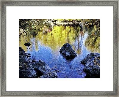 Fall Reflections Odessa Creek Framed Print by Jim Nelson