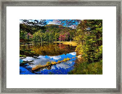 Fall Reflections On Cary Lake Framed Print