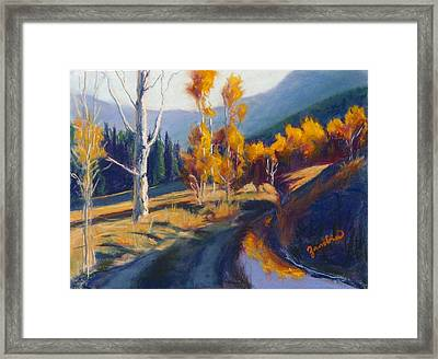 Fall Reflections Framed Print by Zanobia Shalks