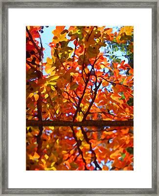 Fall Reflextion Framed Print by Amy Vangsgard