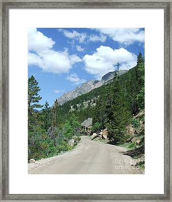 Fall River Road Framed Print