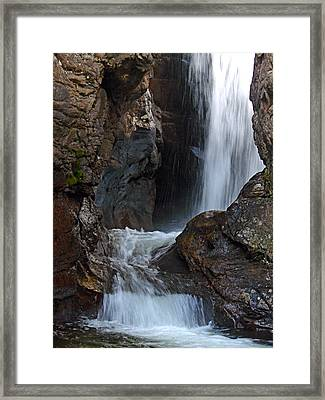 Fall River Road Waterfall Framed Print