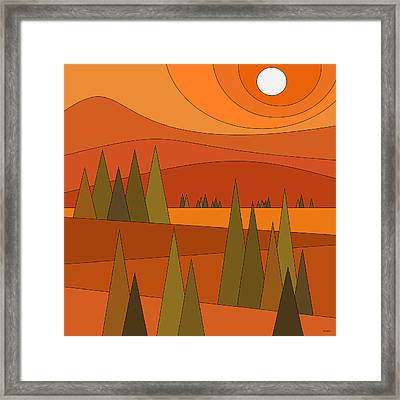 Fall Road Trip Framed Print by Val Arie