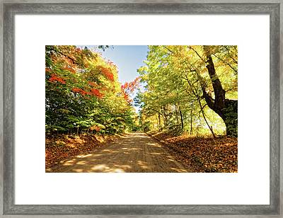 Framed Print featuring the photograph Fall Roads by Lars Lentz