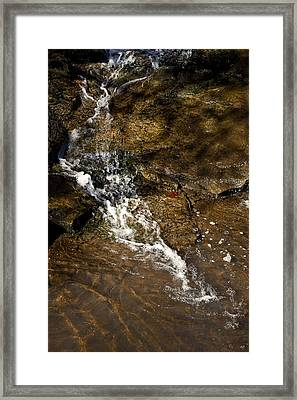 Framed Print featuring the photograph Fall Runoff At Broadwater Falls by Michael Dougherty