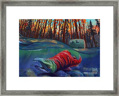 Fall Salmon Fishing Framed Print