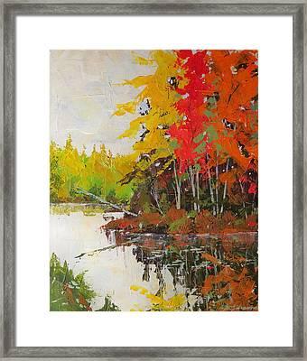 Fall Scene Framed Print