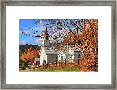 Fall Scene - North Tunbridge Vermont Framed Print by Joann Vitali