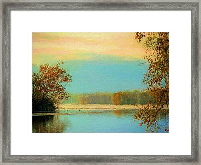 Fall Serenity  Framed Print by JC Findley