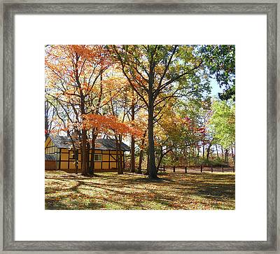 Framed Print featuring the photograph Fall Shadows In The Park by Irina Sztukowski