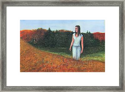 Fall Shadows Framed Print