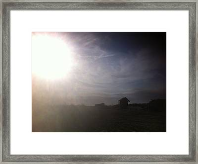 Fall Sky Framed Print by Brian Sereda