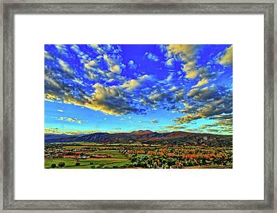 Fall Sky Framed Print