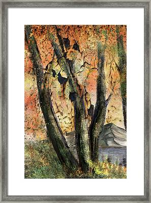 Framed Print featuring the painting Fall Splendor  by Annette Berglund