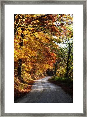 Fall Splendor Framed Print by Cheryl Helms