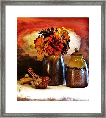 Fall Still Life Framed Print by Marsha Heiken