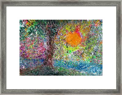 Fall Sun Framed Print by Jacqueline Athmann