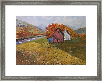Fall Sun Framed Print