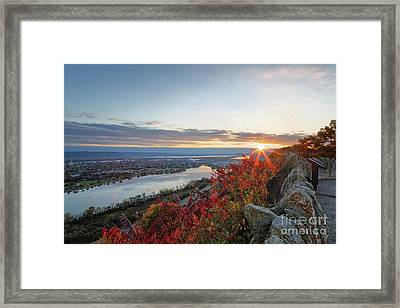 Fall Sunrise At Garvin Heights Winona Framed Print