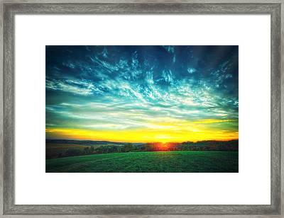 Fall Sunset At Retzer Nature Center Framed Print