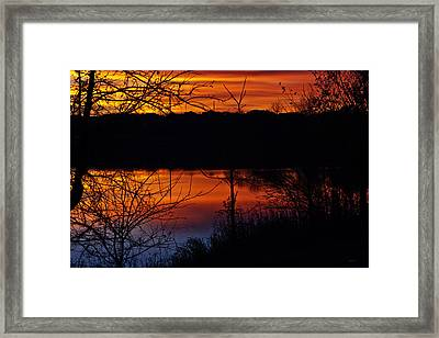 Fall Sunset Framed Print