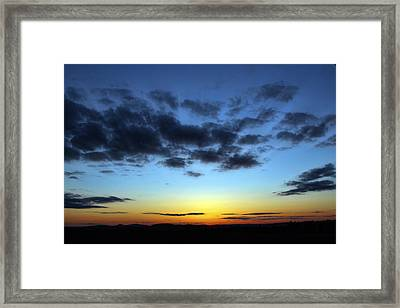 Framed Print featuring the photograph Fall Sunset by Gary Smith